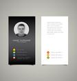 Modern simple dark business card template vector image vector image