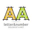 letter a alphabet element symbol vector image