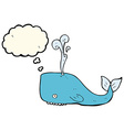 cartoon whale with thought bubble vector image