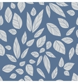 blue seamless leaves vector image vector image