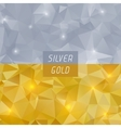 Abstract silver and gold polygonal triangular vector image