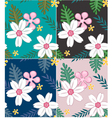 seamless flower pattern design vector image vector image