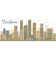 Abstract Brisbane skyline vector image