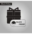 black and white style icon gift box Black Friday vector image