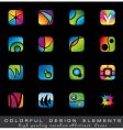 colorful collection of design elements vector image