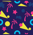colorful old school geometric seamless pattern vector image