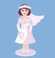 Figurine Of Bride vector image