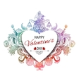 Happy Valentines Day Vintage vector image