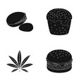 holland food and other web icon in black style vector image