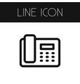 isolated call outline dial element can be vector image