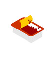 open ketchup dip pack isolated sauce for fast vector image