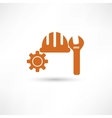 Orange setting icon vector image