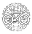 racing bicycle with chain and sprocket vector image