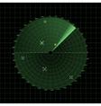 Radar screen on grid vector image