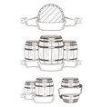 set barrels with labels vector image