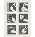 Set of art occupation vector image