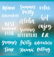 summer cute hand written brush lettering set vector image