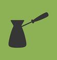 Turkish Coffee Pot Cezve Icon vector image