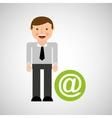 social media man concept mail vector image