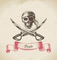 Pirate skull hand drawn vector image vector image