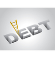 Climbing Out of Debt vector image vector image