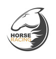 horse racing logotype isolated with vector image