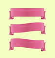 Set of pink sleek web ribbon vector image