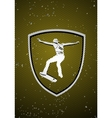skateboarding badge vector image vector image