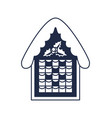 christmas gingerbread house isolated icon vector image