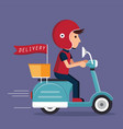 delivery with scooter vector image
