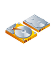icon hard disk vector image