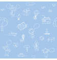 Seamless sketch patterns vector image