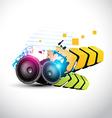 stylish speaker eps10 speaker design vector image