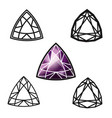 trillion gemstone cut -diamond vector image