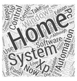 windows xp home automation Word Cloud Concept vector image