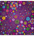 Seamless motley floral pattern vector image vector image