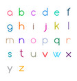 colorful thin letters vector image