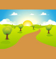 cartoon spring or summer landscape vector image