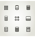 Calculator an icon vector image vector image