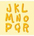 Honey alphabet letters set vector image vector image