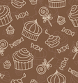 seamless wirh sweets vector image