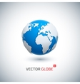 3D realistic globe icon vector image