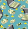 seamless money pattern Suitcase full of money vector image