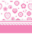 pink greeting card or a baby shower for a girl vector image vector image