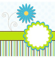 template greeting card vector image vector image