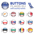 Buttons with EU Flags vector image vector image