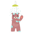bear bathing vector image