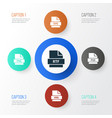 document icons set collection of document png vector image