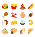 fast food eat cook breakfast lunch dinner vector image