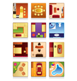 Furniture of the house vector image